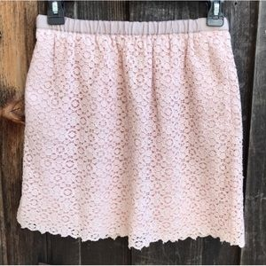 J. CREW Light Blush Pink Eyelet Lace Skirt Size 2